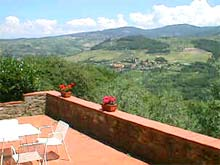 Tuscan farmhouse rental apartments, east of Florence