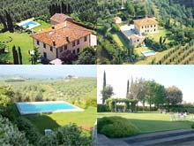 Tuscany, Italy - Villa La Troscia bed and breakfast accommodation, Vinci