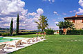 Holiday accommodation within a working farm in Tuscany, Italy