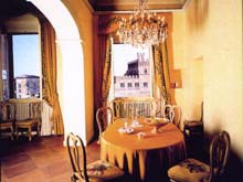 Siena apartment rental with view of Piazza del Campo and the Palio